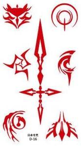 El destino de comando / Zero Hechizo sello cosplay tatuaje viento ...