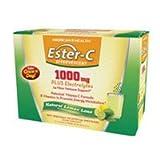Solgar Ester-C 1000 mg Effervescent Powder Packets Lemon Lime, Lemon Lime 21 packets (Pack of 3) For Sale