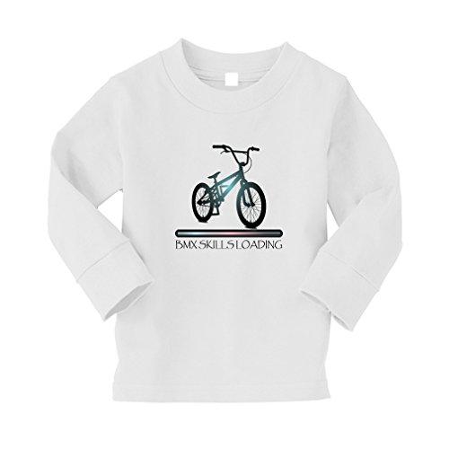 Speedy Pros Bmx Skills Loading Sport #2 Kid/Baby Long Sleeve Cotton T-Shirt Tee - 4T, - Bmx Pro Skills