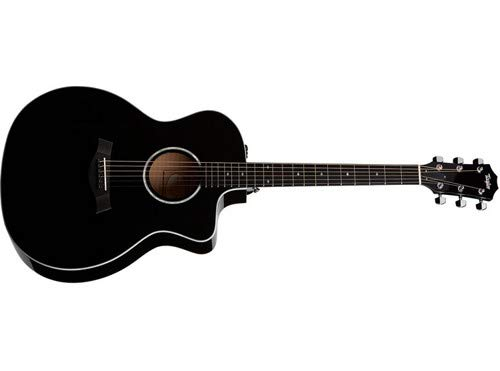 Taylor Guitars 214ce-BLK DLX Black Deluxe Grand Auditorium Acoustic-Electric Guitar
