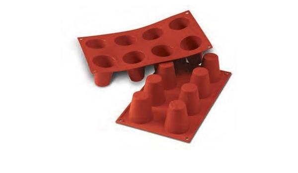 Flexible FaisTonGateau 8 molde para postre babà con agujeros ...