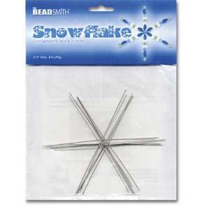 Metal Wire Snowflake Forms Beading