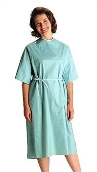 Patient Gowns, Disposable, Spunlace (Case of 50)(Style=NON27246XL Sleeveless, x-large ) by Personal Touch