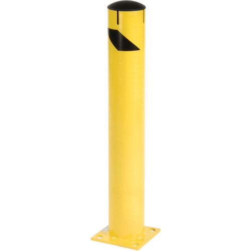 Steel Bollard With Removable Plastic Cap & Chain Slots - Existing Concrete 36
