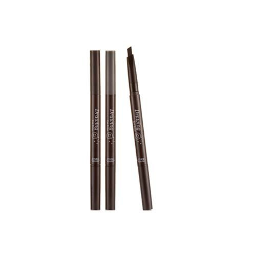 Drawing Eye Brow Pencil x 3PCS #02 Grey Brown