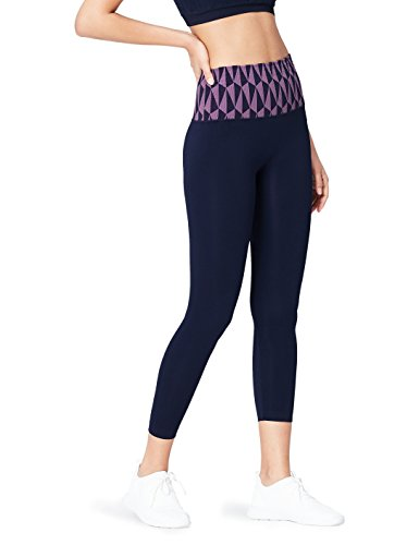 Activewear-Womens-Seamfree-Geo-Patterned-Waistband-Sports-Tights