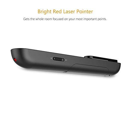 Doosl Wireless USB Presentation Clicker with Red Laser Pointer, 2.4GHz Wireless Presentation Remote for Google Slides…