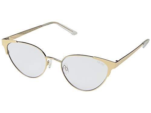 (Quay Women's Song Bird Sunglasses, Gold/Blue, One Size)
