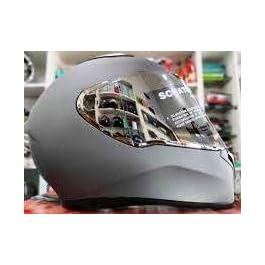 Studds Thunder Helmet with Mirror Visor (Matt Gun Grey, L)