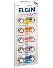 Bateria Alcalina com 10 unidades de 1, 5v tipo LR54, LR1130, 189 ou AG10 Elgin, Elgin, Baterias