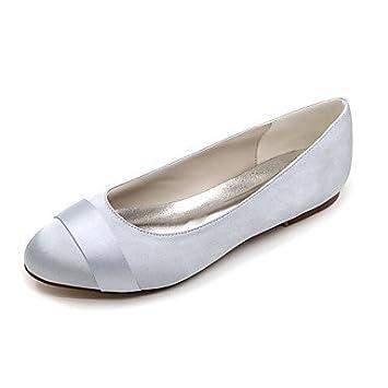 RTRY Women\'S Wedding Shoes Ballerina Satin Spring Summer Wedding ...