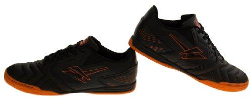 Footwear Studio - Botas de fútbol para hombre negro - Black & Orange