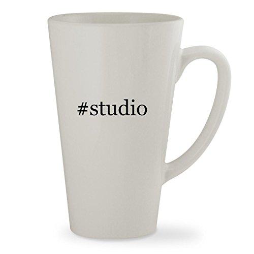 #studio - 17oz Hashtag White Sturdy Ceramic Latte Cup Mug