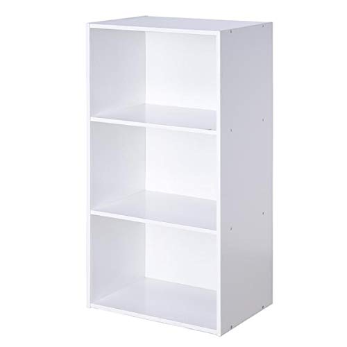 3 Open Storage - Giantex 3 Shelf Bookcase Book Shelves Open Storage Cabinet Multi-Functional Home Office Bedroom Display Bookcases Furniture, White (White)