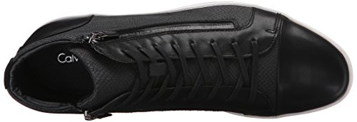 Calvin Klein Men S Berke Emboss Leather Fashion Sneaker Black