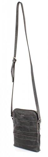 JOOP! Daphne Croco Soft Shoulder Bag Dark Grey