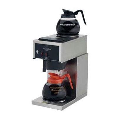 Bloomfield 8543-D2 Koffee King Coffee Brewer, Low Profile, Pour-Over Option, Single, 1 Lower, 1 Upper, Stainless Steel, 14