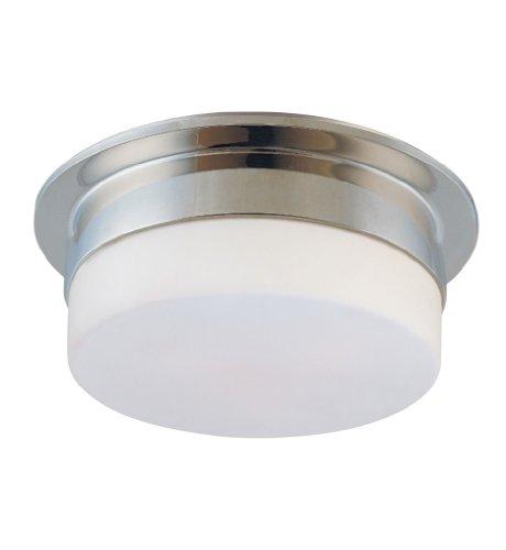 (Sonneman 3742.35, Flange Round Tall Flush Mount Ceiling Lighting, 2 Light, Polished Nickel)