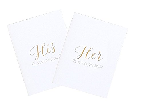 bloom daily planners Set of 2 His and Hers Wedding Vow Books