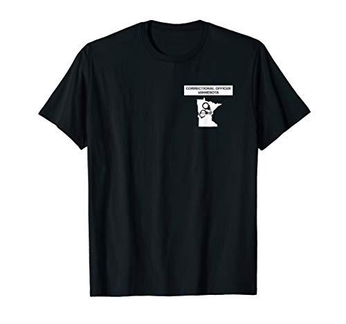 Minnesota Correctional Officer Thin Silver Line Flag T-Shirt