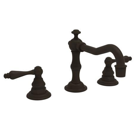 Newport Brass 930L Chesterfield Double Handle Widespread Lavatory Faucet with Me, Oil Rubbed Bronze (Double Brass Handle 930)