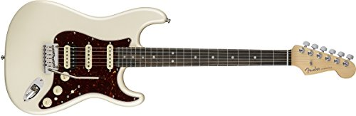 Fender American Elite Stratocaster HSS Shawbucker Electric Guitar with Ebony Fingerboard Olympic Pearl