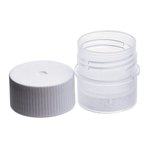Wheaton W985100 Polypropylene CryoElite Sterile Tissue Vial with White Cap, 5mL Capacity (Case of 250)