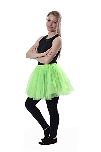 Classic Layered Princess Tutu for Halloween Costumes, Fun Runs,and Everyday Wear Over Leggings -