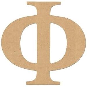 6 letter phi greek font unfinished woodwooden letter diy home