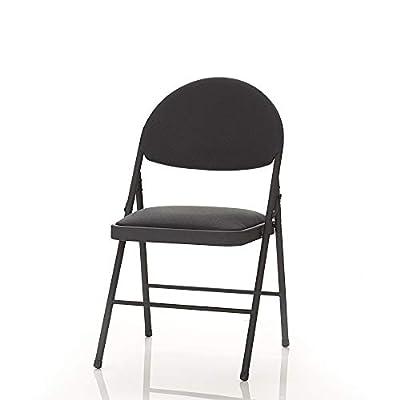 Cosco XL Comfort Folding Chair Black Fabric