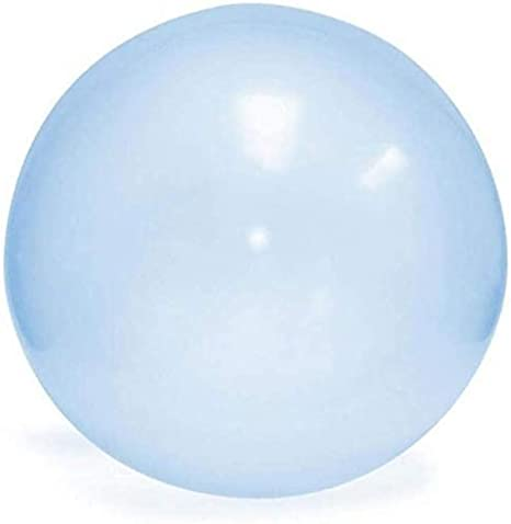 Super Big Inflatable Water Bubble Ball Children Soft Air//Water-filled Big Balloon for Kids Adults Summer Party and Water Play Toy Blue, 80cm//31.5inch Giant Bubble Balls