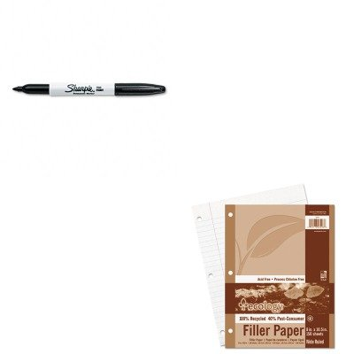Ecology Filler Paper - KITPAC3203SAN30001 - Value Kit - Pacon Ecology Filler Paper (PAC3203) and Sharpie Permanent Marker (SAN30001)