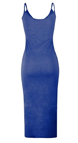 Womens Jaycargogo Dress 2 Spaghetti Button Straps Down Long Sleeveless Bodycon Culb frrqwdF