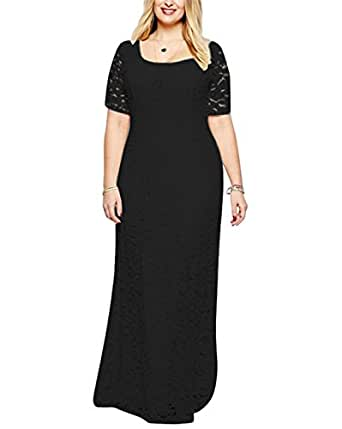 Worlsky women 39 s full lace plus size wedding for Amazon dresses for weddings