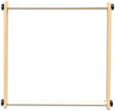 Jitnetiy Adjustable Embroidery Scroll Frame Made of Organic Beech Wooden Tapestry Cross Stitch Frame Holder
