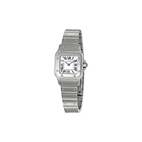 Santos Steel Watch - Cartier Women's W20056D6 Santos Stainless Steel Casual Watch