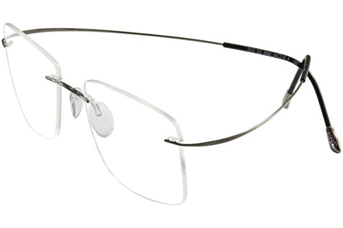 SILHOUETTE Chassis 7799 TMA The Must Collection 6107 Gunmetal Optical Eyeglasses Frame (Bridge:21 - Eyeglasses Silhouette Rimless