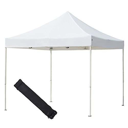 Abba Patio 10 x 10-Feet Heavy Duty Waterproof Shade Canopy, Portable Foldable White Commercial Canopy by Abba Patio