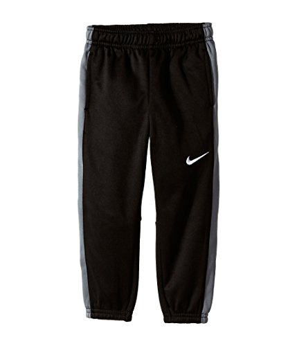 Nike Little Boys' KO 2.0 Fleece Cuffed Therma-Fit Pants (4 Little Kids, Black/Grey) by NIKE