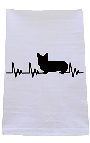 - Azpressed Corgi EKG Tea Towel