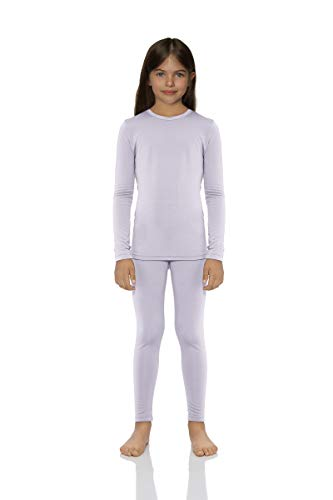 Rocky Thermal Underwear for Girls Cotton Knit Thermals Kids Base Layer Long John Pajamas Set