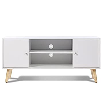 idmarket - Mueble TV Effie escandinavo madera color blanco: Amazon ...
