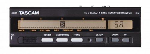 Tascam TG-7 Métronome Accordeur Guitare et Spécifique pour Basse Noir
