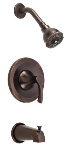 Danze D510022BRT Antioch Tub and Shower Trim Kit, Tumbled Bronze, Valve Not Included by (Antioch Tub Shower)