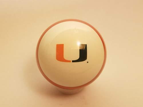 Miami Hurricanes Shift Knob Orange Striped