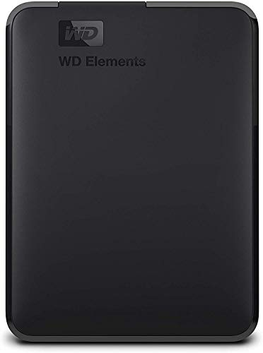 WD Elements – Disco duro externo portátil de 2 TB con USB 3.0, color negro