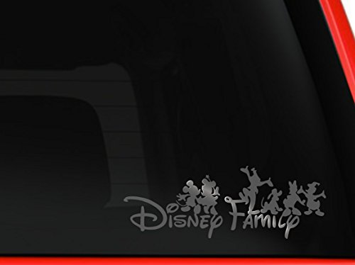 Disney family Mickey and friends car truck SUV mac book laptop tool box wall window decal sticker (6