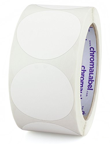 (ChromaLabel 2 inch Color-Code Dot Labels | 500/Roll (White) )