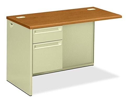 Desking Pedestals - Hon Left Pedestal Return Desk with Lock, 48 by 24 by 29-1/2-Inch, Harvest/Putty