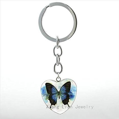 Amazon.com: Mct12-1 - Llavero con diseño de mariposa para ...